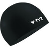 TYR Wrinkle Free Silicone Swimming Cap Black